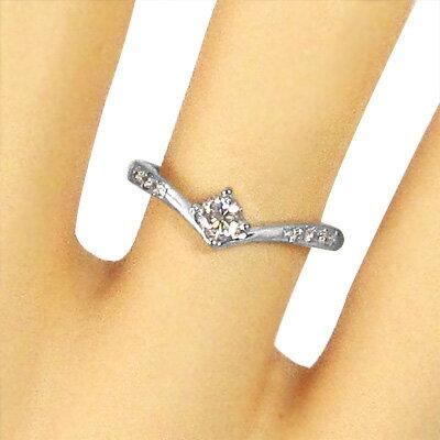【送料無料】【_包装】k10ゴールド リング エンゲージリング 天然ダイヤモンド 4月誕生石 (ホワイトゴールド イエローゴールド ピンクゴールド) 天然ダイヤモンド 約0.24ct 4月誕生石 リング エンゲージリング
