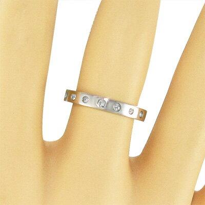 18金ゴールド 指輪 天然ダイヤモンド 4月誕生石 9ピース (ホワイトゴールド イエローゴールド ピンクゴールド) 9ピース 天然ダイヤモンド 約0.12ct 4月誕生石 指輪