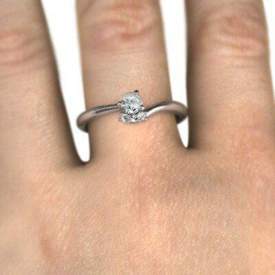 【送料無料】【_包装】オーダーメイド婚約指輪 プラチナ900 天然ダイヤモンド 約0.22ct 4月誕生石 天然ダイヤモンド 約0.22ct オーダーメイド婚約指輪