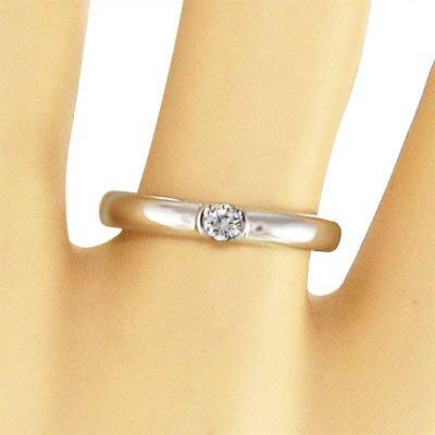 【送料無料】【_包装】リング・婚約指輪にも・白金(プラチナ)900・一粒石・天然ダイヤモンド・約0.10ct・4月誕生石 リング 婚約指輪にも 4月誕生石 天然ダイヤモンド