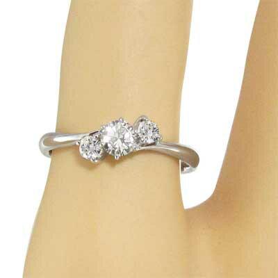 【送料無料】【_包装】3ストーン・指輪・オーダーメイド婚約指輪にも・天然ダイヤモンド・約0.30ct・k10ゴールド (ホワイトゴールド イエローゴールド ピンクゴールド) 指輪 オーダーメイド婚約指輪にも 3ストーン k10ホワイトゴールド
