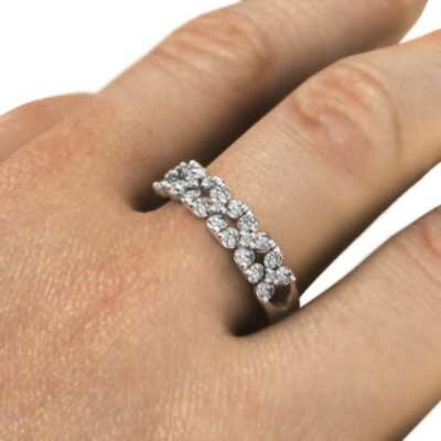 天然ダイヤモンド 指輪 ファッションフラワー 4月誕生石 k10ゴールド (ホワイトゴールド イエローゴールド ピンクゴールド) 【_包装】【送料無料】 ファッションフラワー 指輪 4月誕生石