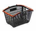 ショッピングバスケット・カゴ・30L/ブラック&レッド(1110011100040)