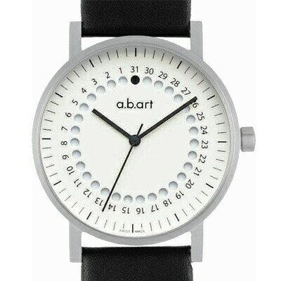 エービーアート 腕時計 O-101W-2 ホワイトダイヤル ラバーベルト メンズ 【長期保証3年付】 【正規輸入品】ギフトにおすすめスイス製腕時計 【送料無料】