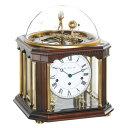 ドイツ ヘルムレ HERMLE 22948-Q10352 機械式置時計 テルリウム アンティークウォルナット [大型サイズ]