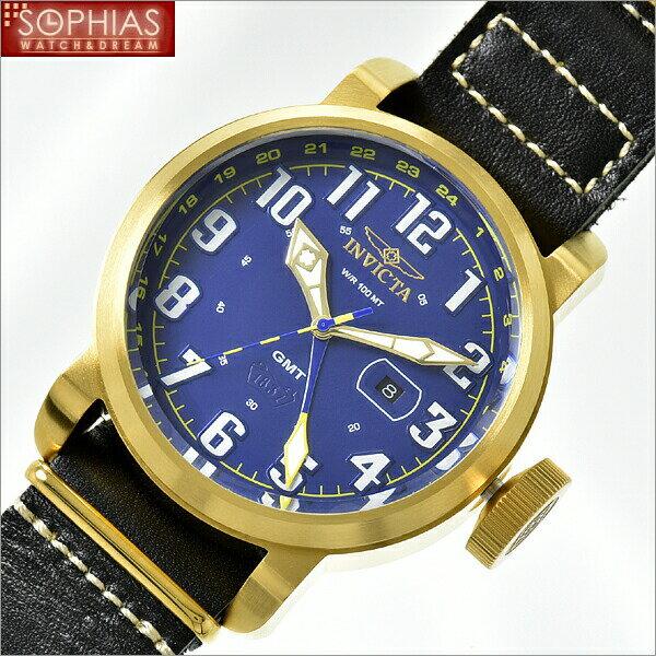 INVICTA インビクタ メンズ腕時計 18889 AVIATOR アビエーター ブルー×ゴールド 【長期保証3年付】 人気のブランド腕時計!ラッピング無料・有料で刻印を承ります