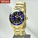 INVICTA インビクタ メンズ腕時計 8930OB PRO DIVER プロダイバー 自動巻 ブルー×ゴールド 【長期保証3年付】