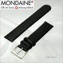 モンディーン MONDAINE FE3118.20Q.1 腕時計 純正 替えベルト黒レザー 羊皮 18mm幅 尾錠ツヤ無し バネ棒別売