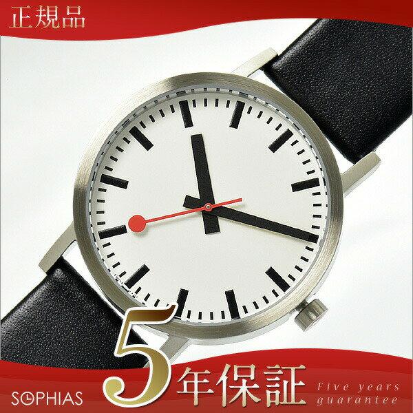 【長期保証5年付】モンディーン MONDAINE 腕時計 クラシック ピュア 40mm クォーツ 黒レザー A660.30360.16OM/MD283