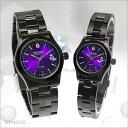 【ペアウォッチ】 スイスミリタリー SWISSMILITARY ペア腕時計 エレガント パープル メタルベルト ML270&ML271 [OTH04]
