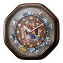 リズム時計 クオーツ掛時計 4MH880-M06 ワンピースからくり時計 [大型サイズ]