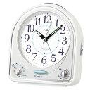 セイコー クロック クオーツ NR435W めざまし時計 (目覚まし時計) ピクシス メロディアラーム 白 【記念品 贈答品 名入れ承ります】【熨斗印刷承ります】