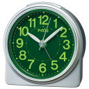 セイコー クオーツ NR439S めざまし時計 ピクシス スタンダード 銀メタリック