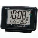 セイコー 電波 SQ775K デジタル めざまし時計 ウィークリーアラーム 温湿度表示付き 黒