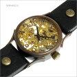 手作り腕時計 ヴィー vie WB-044-BK 機械式手巻き ブラックレザー 【楽天カード分割】