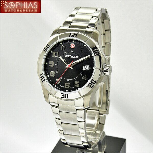 ウェンガー 腕時計 70487 海外モデル ALPINE アルパイン ブラック×シルバー メンズ [SB] 【60%OFF】 人気のミリタリーウォッチ! ラッピング無料