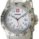 【57%OFF】 人気のミリタリーウォッチ! ラッピング無料ウェンガー 腕時計 72617 海外モデル マウンテイナー ホワイト×シルバー メンズ [SB]