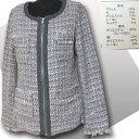 【値下げ】ジップアップジャケット【サイズM/L寸あり】グレー&ピンク系織物素材シルクの光沢あり