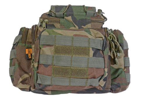 3WAY MOLLEシステム ポーチ バッグ ウエストポーチ ウッドランド アメリカ陸軍 M81迷彩 ミリタリー