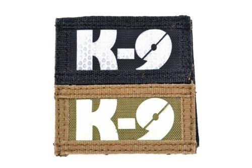 【送料無料 メール便発送商品】 コールサイン K-9 2枚セット ベルクロ付き ワッペン パッチ 徽章 ブラック&ブラウン