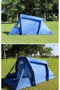 2人用 空気で膨らむ インフレータブルテント テント ワンタッチ アウトドア キャンプ 設営簡単 青色