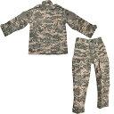 BWOLF製 迷彩服 戦闘服 上下セット ACU迷彩 UPCパターン 子供 女性用 小さいサイズ