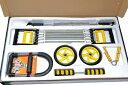 ショッピング腹筋ローラー 筋トレ器具 5点セット パワーバー / ハンドグリップ / 腹筋ローラー / エキスパンダー / リストグリップ