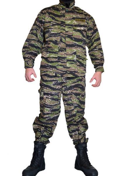 タイガーストライプ リザードパターン とかげパターン ワッペン付 米軍現用服 迷彩服 戦闘服 上下セット サバゲー