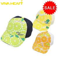 【20%OFF!セール】ビバハート / VIVA HEART (春夏モデル!)キャップJUICY LEMONADE/ハーフメッシュキャップ(レディース)ビバハート/ゴルフウェア/15の画像