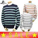 【50%OFF!セール】ブラック&ホワイト / ブラック アンド ホワイト/丸首セーター(メンズ)ゴルフウェア/15K
