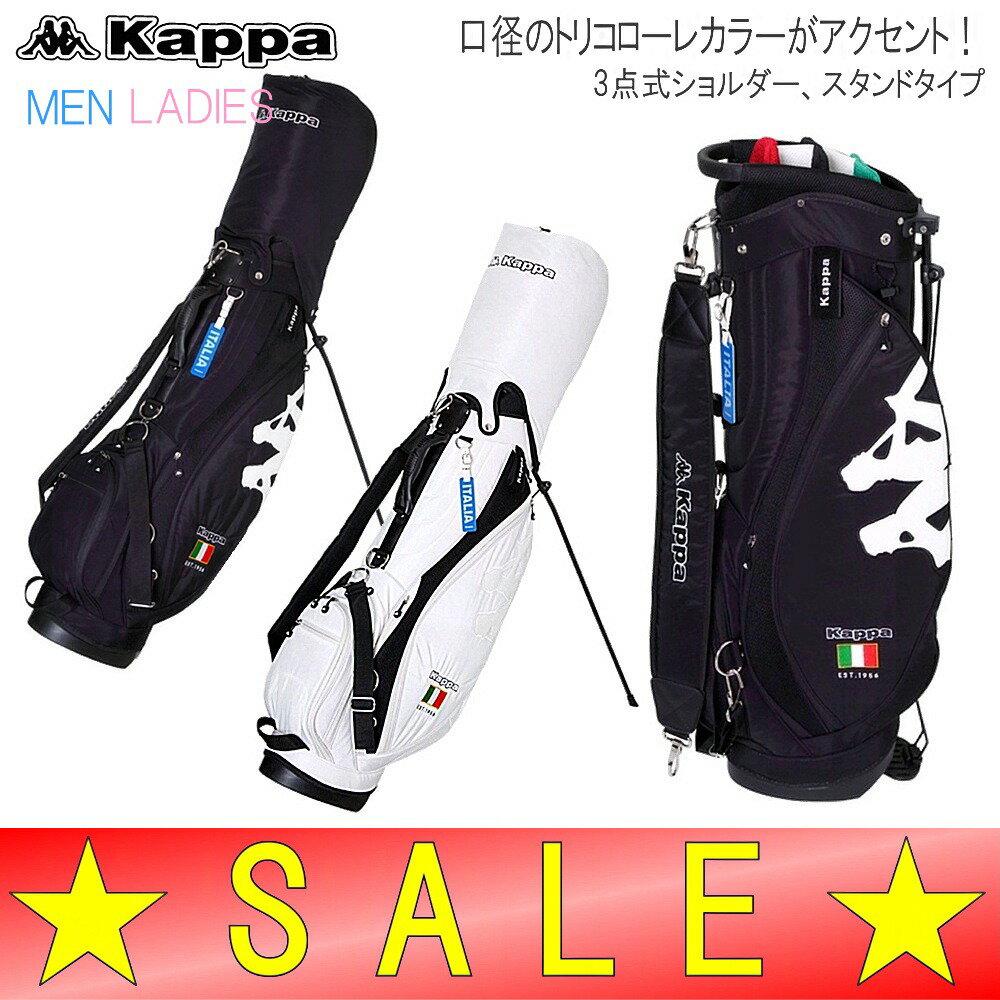 【30%OFF!セール】カッパゴルフ / カッパ / Kappa Golf Itaria  (春夏モデル)スタンド キャディバッグ/9型・47インチ(メンズ・レディース)ゴルフウェア (カッパ ゴルフ) / キャディーバッグ 【30%OFF!セール】カッパゴルフ / カッパ / Kappa Golf Itaria  /たっとい