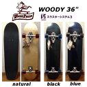 送料無料★ スラスター3搭載 WOODY PRESS SKATE BOARD 36インチ サーフスケート スケートボード コンプリート