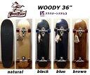 スラスター3搭載 WOODY PRESS SKATE BOARD 36インチ サーフスケート スケートボード コンプリート