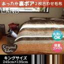 毛布 ブランケット LAND ランド 約245×195cm 送料無料 キングサイズ なめらかフランネルと