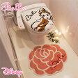 送料無料 NDY-15A ベルのイラストが大人かわいいトイレ2点セット 蓋カバー トイレマット 美女と野獣 ディズニー Disney ディズニープリンセス トイレタリー