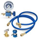 由于能简易的填充的商品空调的煤气空调煤气补充组套HFC-134a STRAIGHT/27-320(STRAIGHT/直版)[エアコンのガスを簡易的に充填できる商品ですエアコンガス補充セット HFC-134a STRAIGHT/27-320 (STRAIGHT/ストレート)]