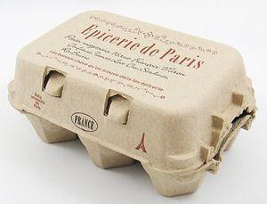 【エッグケース (パリのエピスリー)】 カントリー雑貨・アメリカン・ナチュラルかわいい・可愛い・プレゼントいちご・たまごケース・卵ペーパー・玉子・タマゴ
