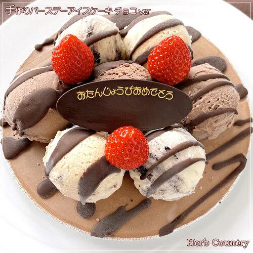 特製・バースデーアイスケーキチョコver5号の商品画像
