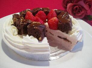 ストロベリーブラウニーアイスケーキ