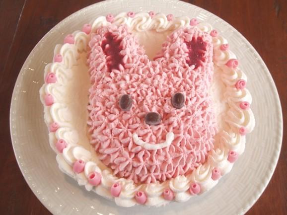 手作り誕生日アイスケーキ・ラブリーウサちゃん6号の商品画像
