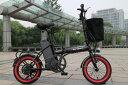 Max30km/h こがずに走るアクセル付き折り畳みフル電動自転車 2017年改良最新モデル