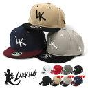 LARKINS ラーキンス アクリル 刺繍 ロゴ ベースボールキャップ/レディース BBキャップ ストレートキャップ ロゴキャップ フラットバイザー 平つば 6パネル キャップ 帽子 CAP スナップバック ストリート系 カジュアル かわいい おしゃれ 無地 シンプル LK ブランド/