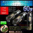 T10 T16 60w SHARPチップ LED ポジション・バックランプ ホワイト(5500k or 9000k) 無極性 【ハイブリッド車対応】