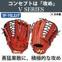 【あす楽対応】 ハタケヤマ HATAKEYAMA 硬式グラブ 外野手用 (SF-1加工済) V-81WRSF1 グローブ 硬式用 野球用品 スワロースポーツ