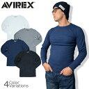 AVIREX(アビレックス) L/S THERMAL CREW NECK TEE サーマル クルーネック 長袖 Tシャツ 6153515