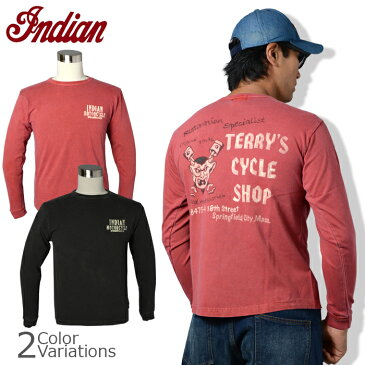 """indian ロングスリーブTシャツ """"TERRY'S CYCLE SHOP""""IM66820"""
