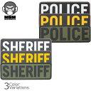 Mil Spec Monkey/ミルスペックモンキー/POLICE/SHERIFF/PVCパッチ/小/50mm×150mm/