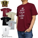 SWAT ORIGINAL(スワットオリジナル) メンズ Tシャツ 半袖 【ミリタリー】 「KEEP CALM and CARRY ON」プリントTシャツ 6....