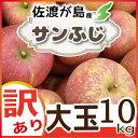 【訳あり】佐渡産りんご『サンふじ』10kg 大玉(約24〜28前後)完熟収獲だから、とっても甘くて美味しい!!りんご農家を厳選【完熟りんご】【産地直送】