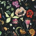 【サンドウ限定復刻色】リバティプリント タナローン生地(Floral Eve フローラル・イヴ)ブラック【3633189】